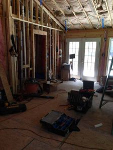 Before photos from a family room renovation in East Cobb County, GA