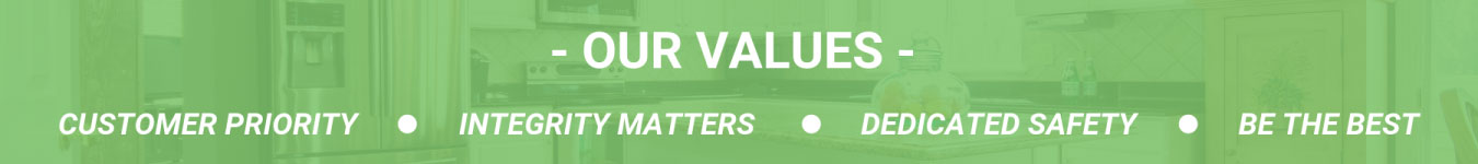 Graphic displaying our values.